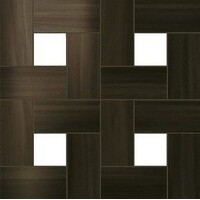 Aston Wood Dark Oak Mosaic Lappato 45x45 (Астон Вуд Дарк Оак Мозаика Лаппато 45x45)