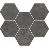 Charme Evo Antracite Mosaico Hexagon 25x29 (Шарм Эво Антрачит Мозаика Гексагон 25x29)