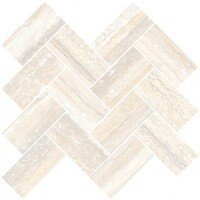 Travertini Chevron Mosaic Cream 31.5x28 (Травертини Мозаика Шеврон Кремовый 31.5x28)